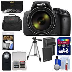 Nikon Coolpix P900 Wi-Fi 83x Zoom Digital Camera + 64GB Card