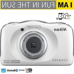 Nikon COOLPIX W100 13.2MP 1080P Digital Camera w/ 3X Zoom Le