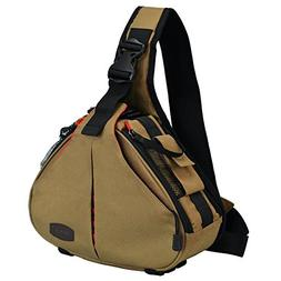 CADeN Camera Sling Bag Backpack Men Women with Rain Cover Wa