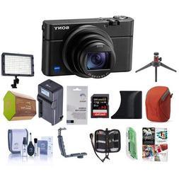 Sony Cyber-Shot DSC-RX100 VI Digital Camera, Black - Bundle