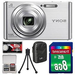 Sony Cyber-Shot DSC-W830 Digital Camera  with 16GB Card + Ca