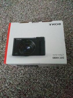 Sony Cyber-shot DSC-HX80 18.2 MP Digital Camera - Black,open