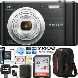 Sony Cyber-shot DSC-W800 Digital Camera 20.1MP Black Memory