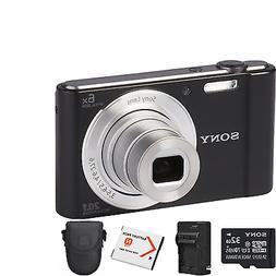 Sony Cyber-shot DSC-W810 Digital Camera - Black + 2 Batterie