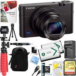 Sony Cybershot RX100 III 20.2MP Digital Camera + 64GB Dual B