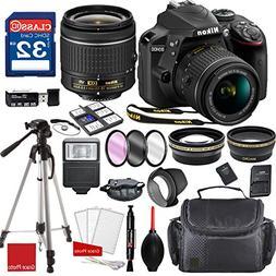 Nikon D3400 DX-format Digital SLR w/AF-P DX NIKKOR 18-55mm f