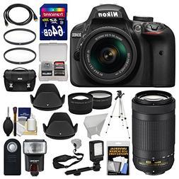 Nikon D3400 Digital SLR Camera & 18-55mm VR & 70-300mm DX AF