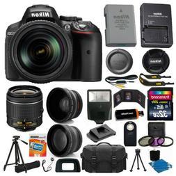 Nikon D5300 Digital SLR Camera 3 Lens Kit 18-55 VR Lens + 32