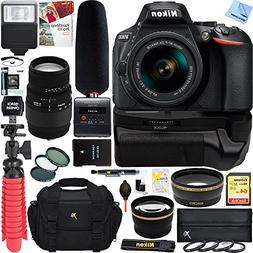 Nikon D5600 Digital SLR Camera + AF-P 18-55mm VR & Sigma 70-