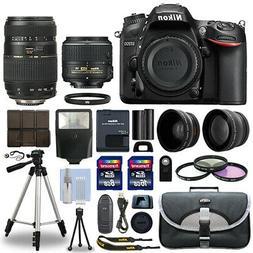 Nikon D7200 Digital SLR Camera + 4 Lens Kit 18-55mm + 70-300
