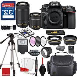 Nikon D7500 DX-format Digital SLR w/AF-P DX NIKKOR 18-55mm f