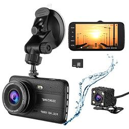 Dash Cam,Ssontong Dual Lens Car Front and Rear Channel Dashb