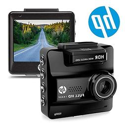 HP Dash Cam for Cars 1440P Ultra HD with Built-in GPS Dashbo