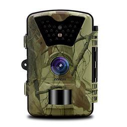 OOSSXX Day/Night Trail Camera, 12MP Full HD 1080P 90° PIR S