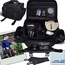 Deluxe Large Digital Camera / Video Padded Carrying Bag / Ca