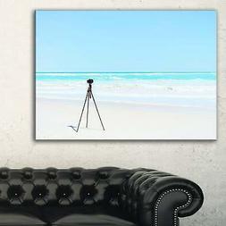 Digital Camera and Tripod on Beach - Oversized Landscape  Sm