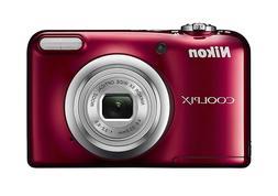 Nikon digital camera COOLPIX A 10 red optical 5X zoom 16.1 M
