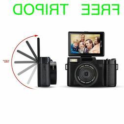 SEREE Digital FHD 1080P Video Camera Vlogging  24MP with Tri