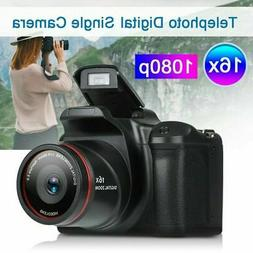 Digital SLR Camera 2.4 Inch TFT LCD Screen HD 16MP 1080P 16X
