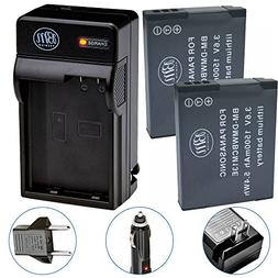 BM Premium 2 Pack of DMW-BCM13E Batteries and Charger for Pa