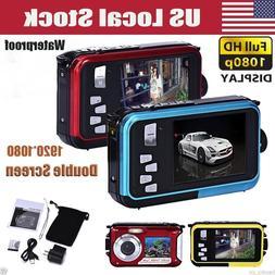 Double Screen Waterproof Camera 24MP 16x CMOS HD 720P Digita