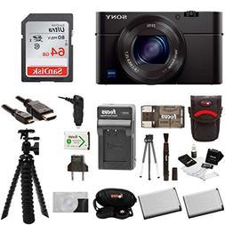 Sony DSC-RX100M III Cyber-shot Digital Camera with Sony Atta