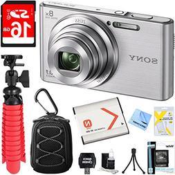 Sony DSC-W830 Cyber-shot 20.1MP Digital Camera  + 16GB Memor