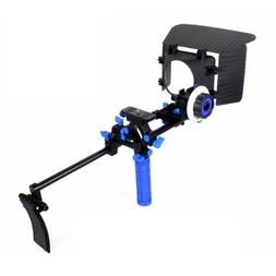 Shoulder Mount Rig Follow Focus Matte Box DSLR Rig Movie Kit