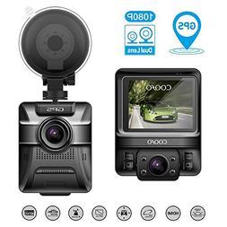 COOFO Dual Lens Car Dash Cam,1080P FHD 150 ° Wide-Angle Len