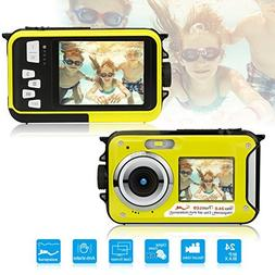 Dual Screen Waterproof Underwater Sports Action HD Mini Digi