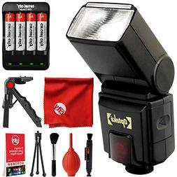 Opteka EF-790 DG TTL Autofocus Dedicated TTL LCD Flash for C