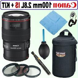 Canon EF 100mm F/2.8L IS USM Macro Lens w/ 3-Piece 67mm Flit