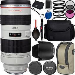 Canon EF 70-200mm f/2.8L USM Lens Bundle with Manufacturer A