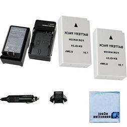 EN-EL24 Batteries for Nikon 1 J5 Mirrorless Cameras + Home/