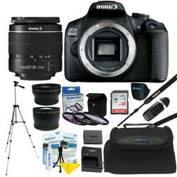 Canon EOS 2000D / Rebel T7 24.1MP DSLR Camera + 18-55mm Lens