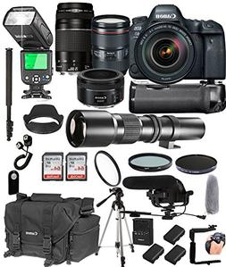 Canon EOS 6D Mark II with 24-105mm f/4 L is II USM + 75-300m