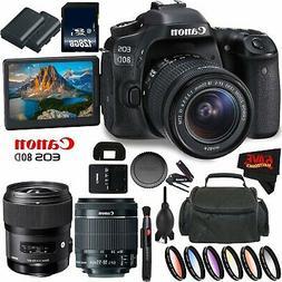 eos 80d dslr camera 18 55mm lens