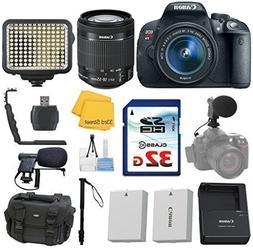 Canon EOS Rebel T5i 18.0 MP CMOS Digital Camera + Canon EF-S