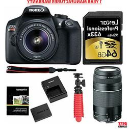Canon EOS Rebel T6 DSLR Camera Kit EF-S 18-55mm + EF 75-300m