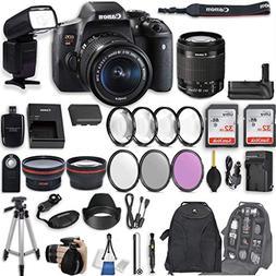 Canon EOS Rebel T6i DSLR Camera EF-S 18-55mm f/3.5-5.6 is ST
