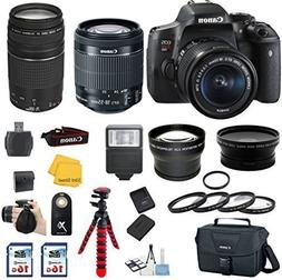 Canon EOS Rebel T6i DSLR Camera with Canon 18-55mm IS STM Le
