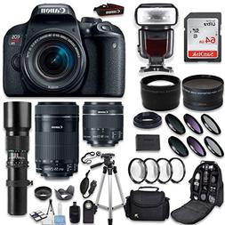 Canon EOS Rebel T7i DSLR Camera + 18-55mm IS STM Lens + Cano