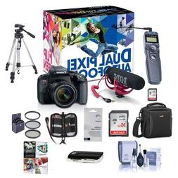 Canon EOS Rebel T7i DSLR Video Creator Kit with EF-S 18-55mm