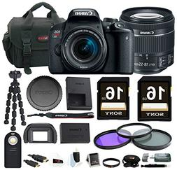 Canon EOS Rebel T7i DSLR Camera w/18-55mm lens & 32GB Access