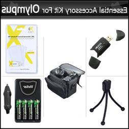Essential Accessory Kit For Olympus SP-620UZ, SP-610UZ, SP-6