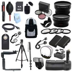 EVERYTHING YOU NEED SLR KIT: for Canon EOS 70D Digital SLR C
