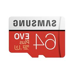 Samsung  64GB MicroSDXC EVO Plus Memory Card w/ Adapter