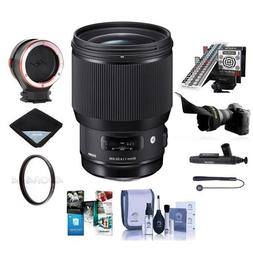 Sigma 85mm f/1.4 DG HSM Art Lens for Nikon DSLR's - Bundle w