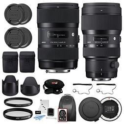 Sigma 18-35mm f/1.8 DC HSM and 50-100mm f/1.8 DC HSM Art Len