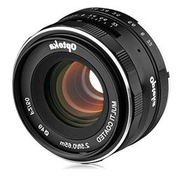 Opteka 50mm f/2.0 HD MC Manual Focus Prime Lens for Sony E M